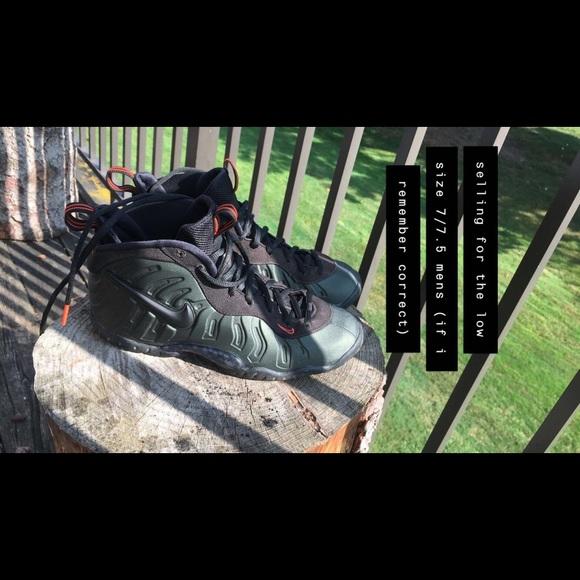 Nike Other - green & orange nike foamposite (4 men & women)